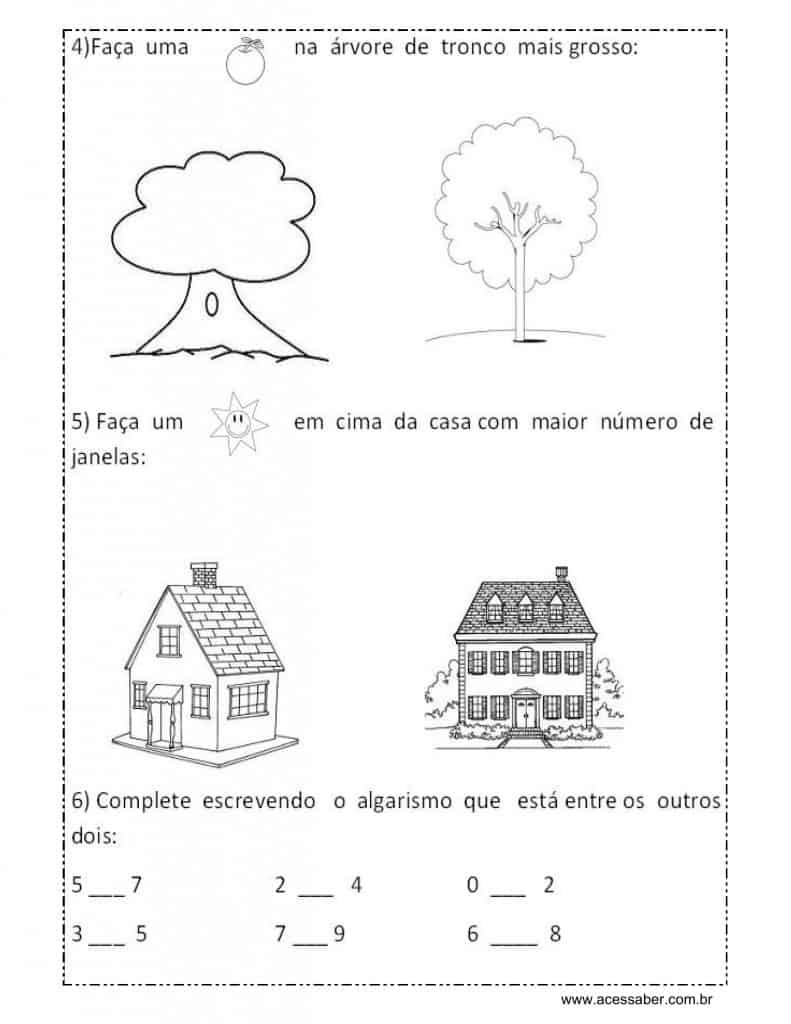 avaliação de educação infantil 5