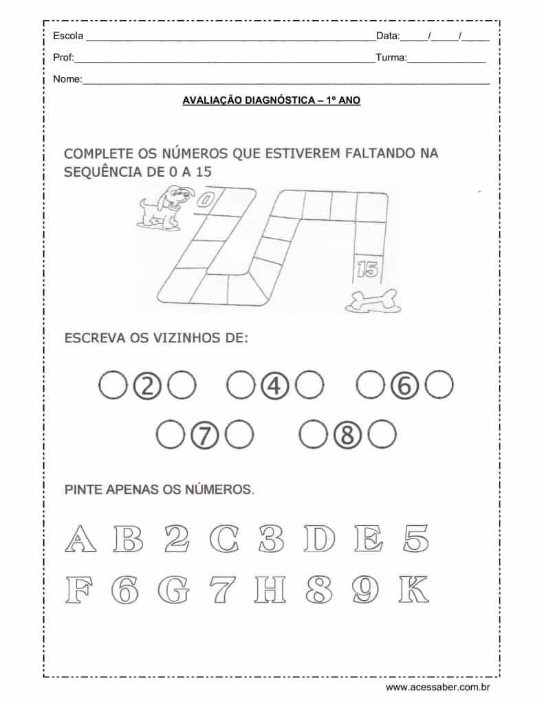 avaliação diagnóstica 1º ano matemática_01