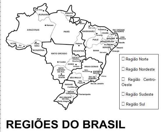 Mapa: Brasil politico