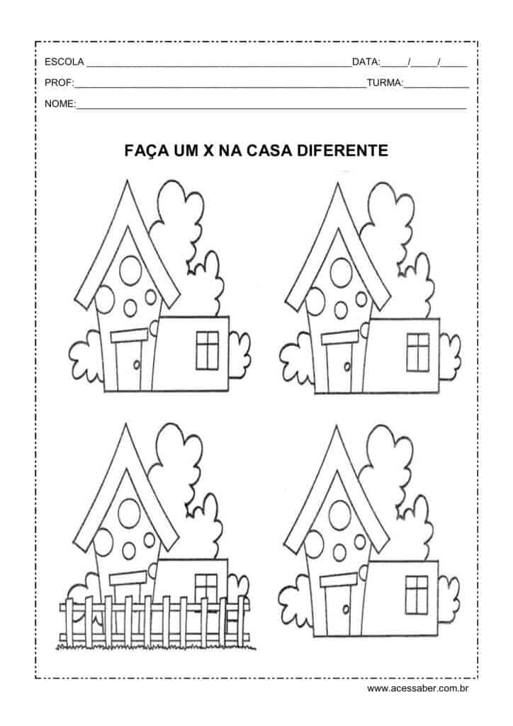 Encontre a casa diferente