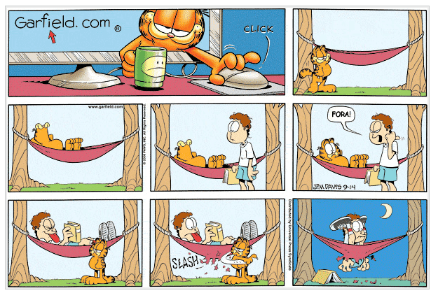 Tirinha do Garfield