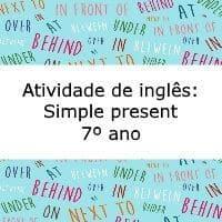 Avaliação De Inglês Simple Present 7º Ano